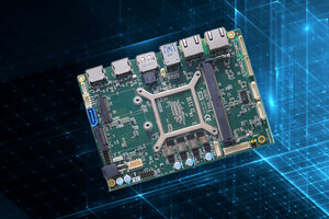 "New Axiomtek 3.5"" embedded SBC with AMD® RYZEN offers quad view"