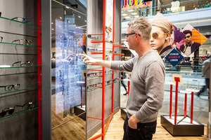 Kite Opticians Mirror Touch Screen