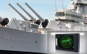 naval military ship with high bright display (medium)